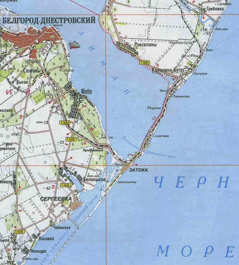 Карта Затока